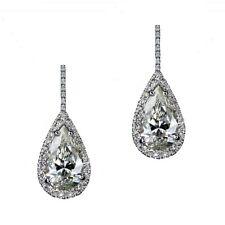 GIA Certified 7.50 Carat Pear Shape Diamond Earrings Set Platinum