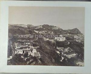 5 ANTIQUE PHOTO PORT CHINA HONG KONG PEAK HARBOUR VICTORIA ALBUMEN 1890 #7