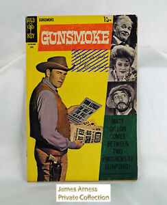 James Arness Marshal Dillon Gunsmoke Gold Key Comic #3 June 1969 Signed