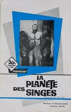 THE PLANET OF THE APES 1967 - Charlton Heston - FRENCH PRESSBOOK
