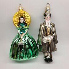 Kurt Adler Polonaise Gone with the Wind Scarlet and Rhett Ornaments by Komozja