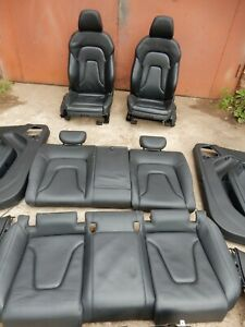 AUDI A5 T8 COUPE 2013 S LINE BLACK LEATHER INTERIOR SEAT SET 44#98