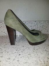 """NEW Banana Republic women's 6.5 green suede shoes  pump ultra high 4"""" heel"""