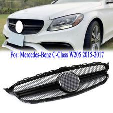 Black For MERCEDES BENZ C-class W205 C63AMG Style Front Grille Grill 2015-2017