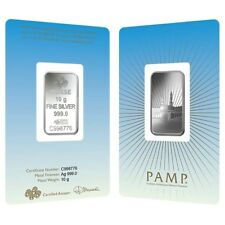 10 gram PAMP Suisse Silver Bar - Ka 'Bah Mecca (in Assay) .999 Fine