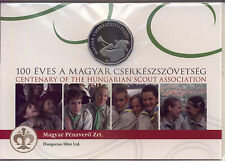 Dodecagonal coin! Hungary 100 Ft 2012 Proof Centennial of Scouting in Hungary