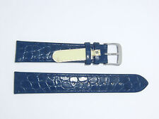 "DI-Modell Genuine Calfskin Leather croc grain 18 mm NAVY Watch Band ""TIFFANY"""