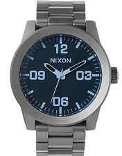 Nixon Corporal SS Watch Gunmetal/Blue Crystal NEW in box