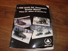 Arctic Cat Snowmobile Service Manual Wildcat EFI Wildcat Mountain Cat EFI 1992
