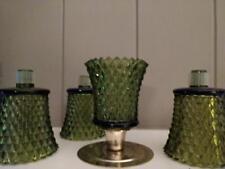 Home Interiors Homco Green Diamond Votive Cup - Set of Four