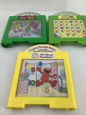 3 Mattel Learn Through Music Cartridges Sesame Street Elmo Barney