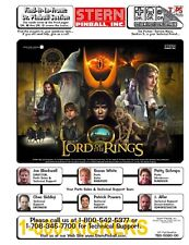 Paper Copy: Lord Of The Rings Pinball COMPLETE Service Repair Manual I-0080