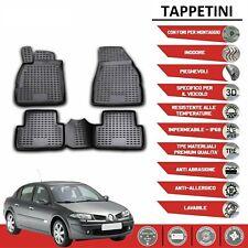 Tappeti Renault Megane II in forma 3D tappetini in gomma con bordo