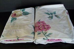 Vintage Springmaid Queen Sheet Set Floral Pattern No Iron Percale USA EC