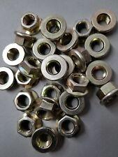(10) M12-1.25 / 12mm x 1.25 Fine Thread Steel Flange Nuts Zinc 8.8    M12x1.25