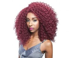 BS204 - ISIS Brown Sugar Human Hair Style Mix Soft Lace Wig MEDIUM CURLY