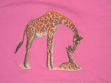 Embroidered Long-Sleeved T-Shirt - Giraffe and Baby Bt3647