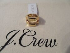 NEW J.CREW  RING, SIZE 5, GOLD