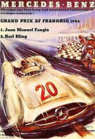 "Grand Prix AF Frankrig 1954 Mercedes Benz Friends- 17""x22"" Fine Art Print- 00283"