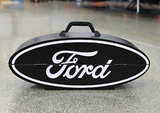 "Collectible Ford Black Oval Logo Steel Tool Box by GoBoxes 1014 23.5"" Wide"