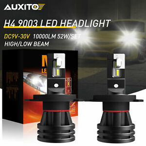 AUXITO H4 60W LED Headlight Bulbs Kit 6000K White High Low Beam Replace Halogen