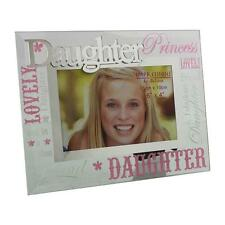 Glass 6 x 4 Photo Frame with Mirror Glass & Glitter Letters - Daughter