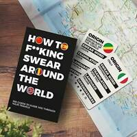 How to F**king Swear Around the World Language Cards Novelty Fun Xmas Adult Gift
