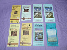 Lot of 8 USFS National Forest BLM Topographic Maps WY UT OR MT CO topo Moab