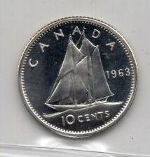 1963 Canada 10 Cents Silver Coin - ICCS PL-66 Cameo Proof-like