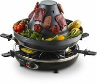 Gourmia GEG1400 Electric Raclette Party Grill With Vertical Grilling Sombrero...