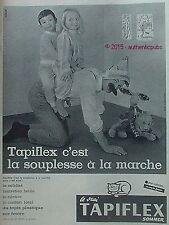 PUBLICITE TAPIFLEX TAPIS PLASTIQUE ENFANT JEU OURS DE 1960 FRENCH AD PUB VINTAGE