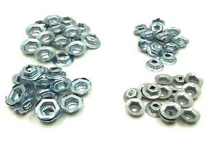 60 pcs emblem script name plate thread cutting nuts 4 sizes 1/8 5/32 3/16 1/4 c
