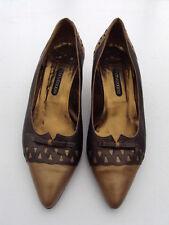 MARY POPPS gold/braune Pumps mit Schleife Größe 38,5