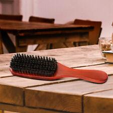 100% Pure Wild Boar Bristle Hair Brush,Stiff Natural Bristles,Wooden Handle USA