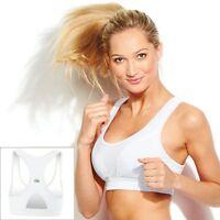 XS Sports Bra FILA White Padded NEW Workout Running NWT X SMALL Womens 32 34 A