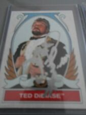 wwe tops ted dibiase signed wrestling card wwf tna wcw