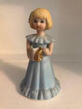 Vintage 1981 Growing Up Birthday Girl Age 6 Blonde Hair Enesco porcelain figure