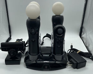 Sony Playstation Move Controller Set w/ Nyko Charger 3 Move 1 Nav Camera PS3 PS4