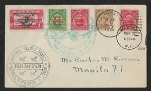 PHILIPPINES - LONDON MANILA ORIENT AIR MAIL COVER 1928