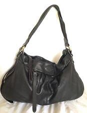 Large LANCEL Paris Black Leather Hobo/Shoulder Bag / Handbag