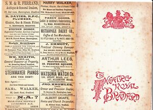 PROGRAMME, THE ROYAL THEATRE, BRADFORD.FAREWELL PERFORMANCE OF HENRY IRVING,1905