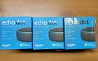 Amazon Echo Dot (3rd Generation) Smart Speaker - Charcoal  Lot of 3 - FREE SHIP
