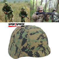 Tactical Military Fast HELMET COVER Hunting For M88 SWAT PASGT Airsoft Digi Wood