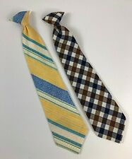 Vintage TIES Snap On Clip On Beau Brummell Striped and Plaid Necktie