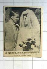 1963 Mr P Richards Of Knave Go By Camborne Weds Miss S Pugh Treslothan Church