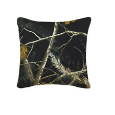 REALTREE AP BLACK & WHITE CAMO DECORATIVE BEDDING SQUARE PILLOW - CAMOUFLAGE
