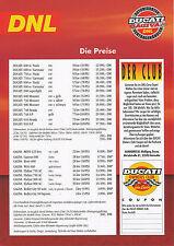Ducati Cagiva Preisliste 1996 600 750 900 SS Superlight Monster 916 Elefant W