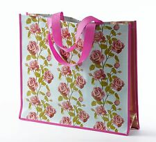 ENGLISH ROSE VINTAGE Disegno Floreale Pvc Shopper Shopping Bag NEW 18606