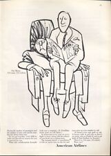 """1965 American Airlines """"Our Motto, 124 Seats, 124 Tickets"""" Saxon ART PRINT AD"""