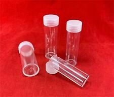 20 Round Clear Plastic Coin Holder Tubes Combo Pack-Penny, Nickel, Dime, Quarter